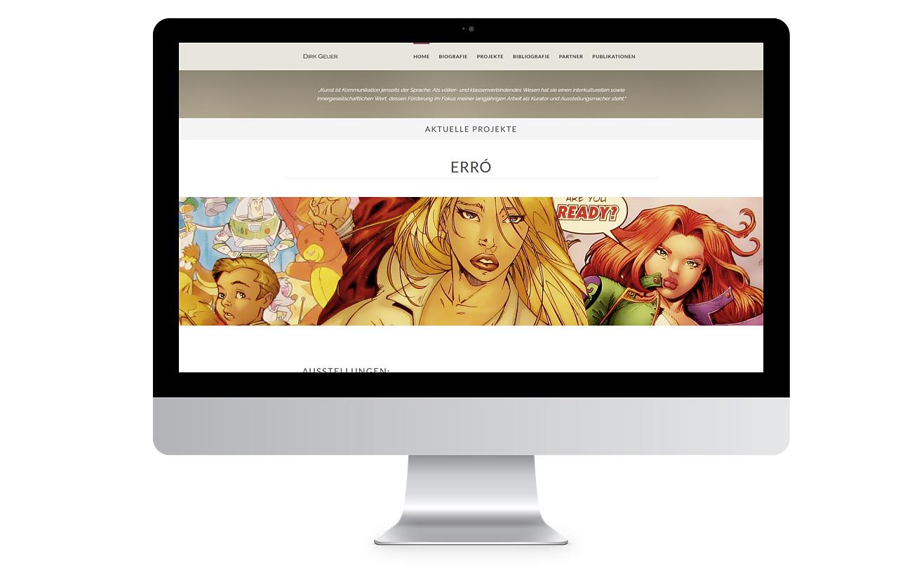 Responsive Design desktop Webseite