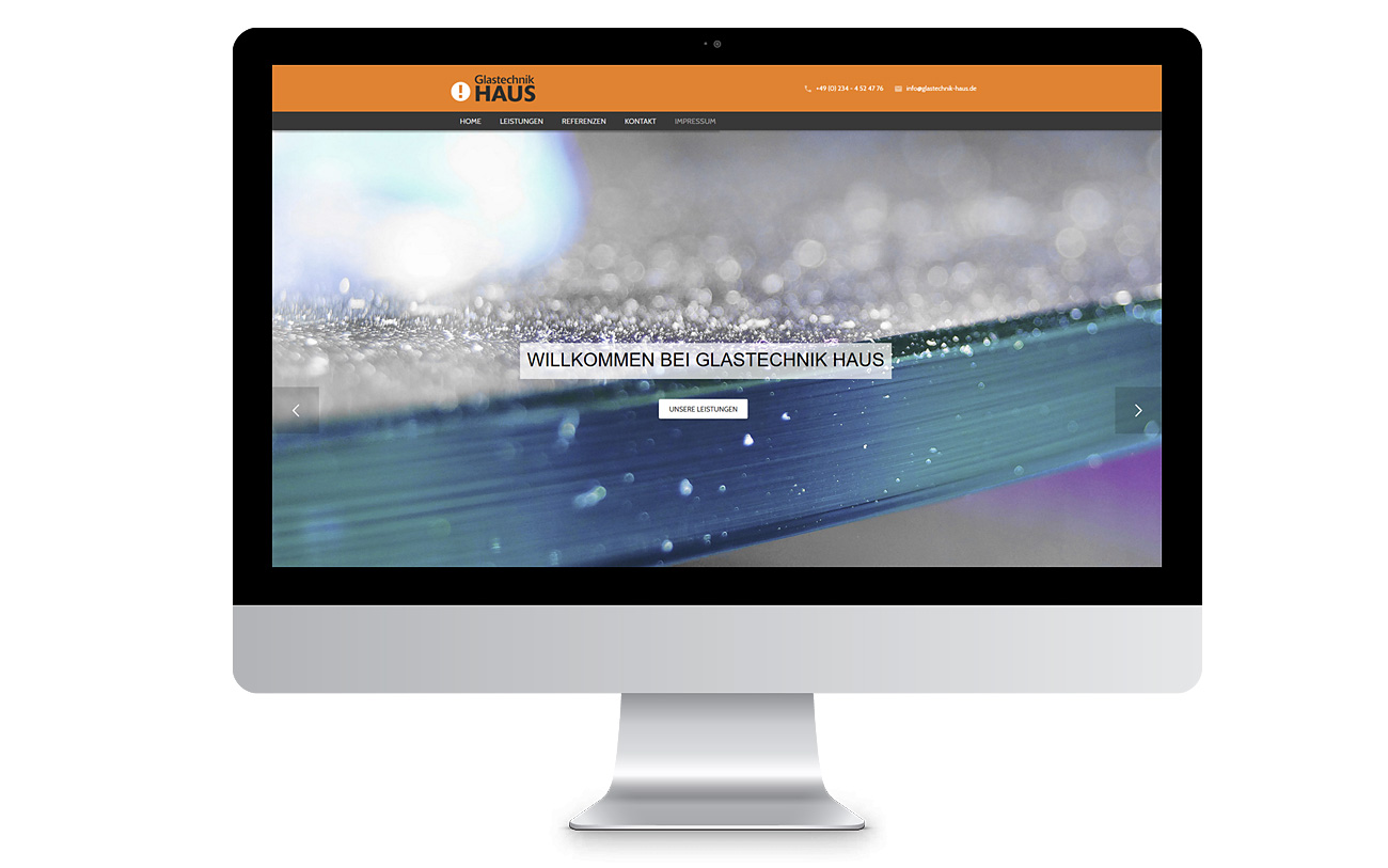 Responsive Design desktop Webseite