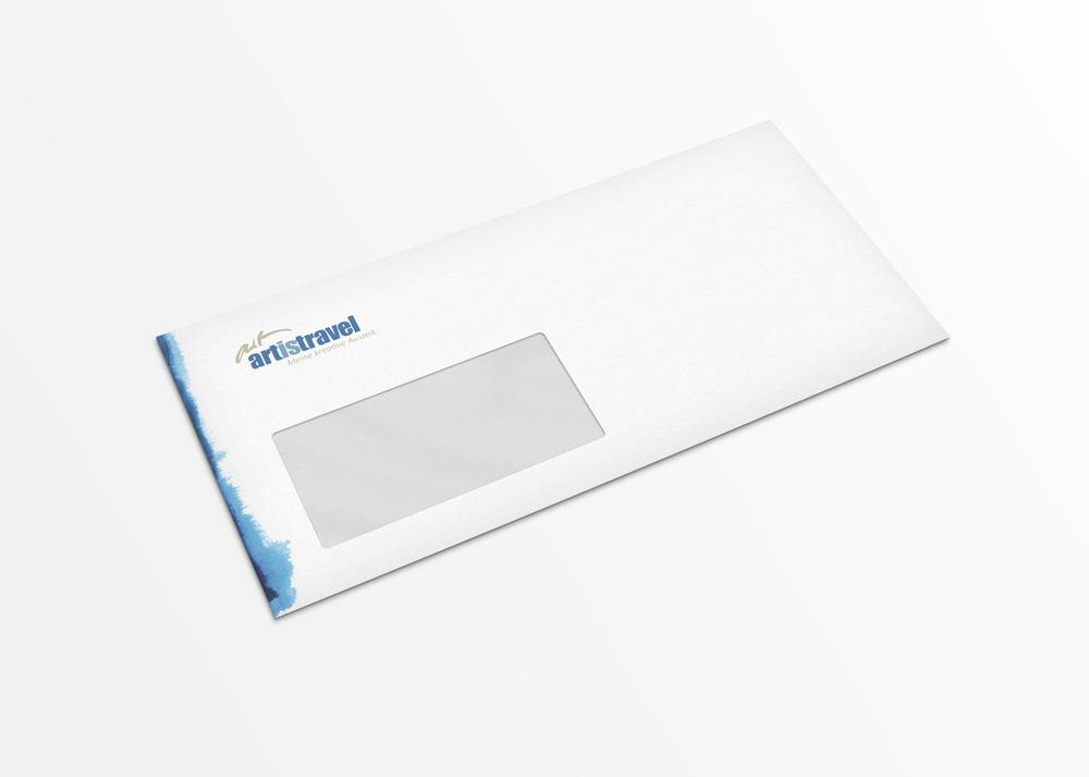 Gestaltung eines Briefumschlags in DIN Lang