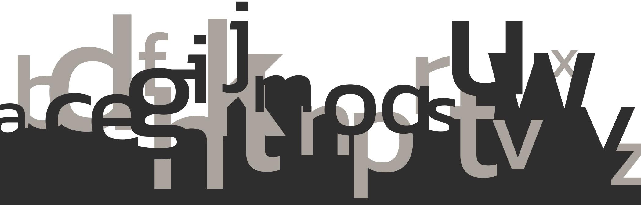 Typografischer Hintergrund