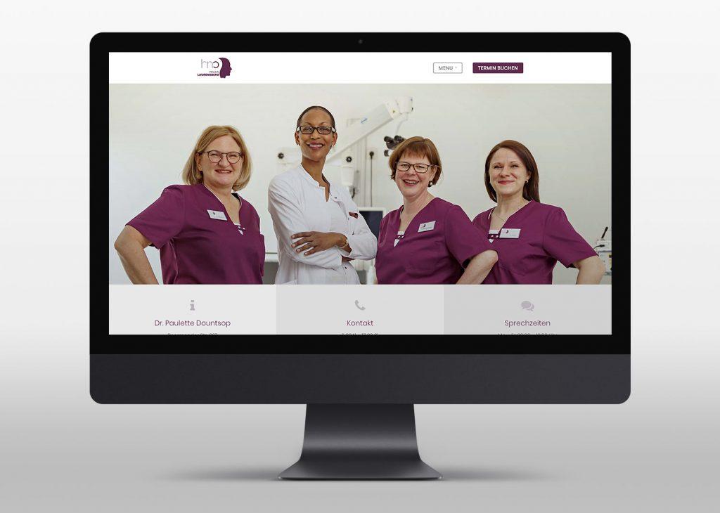 Neue Webseite mit Wordpress für die Praxis Laurensberg - Desktop View