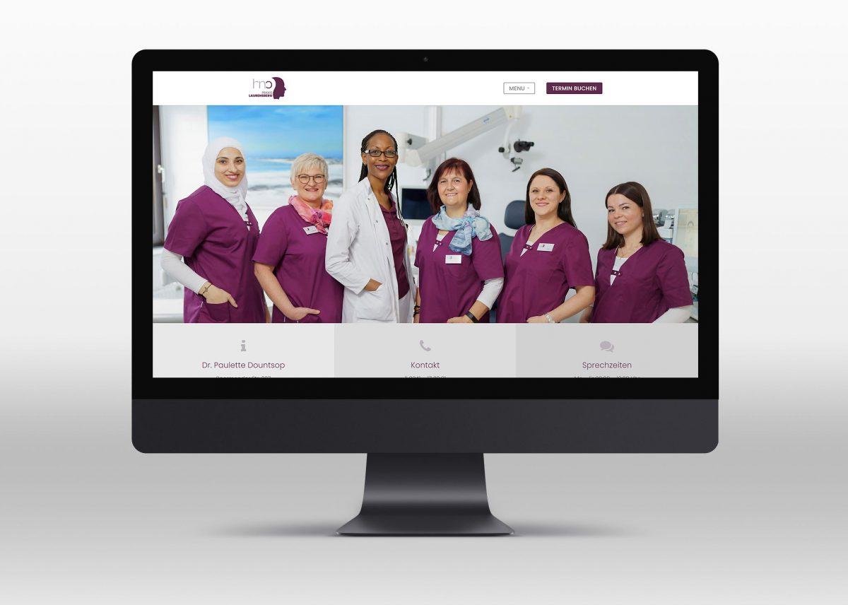 Neue Webseite für HNO Praxis Laurensberg in Aachen - Desktop